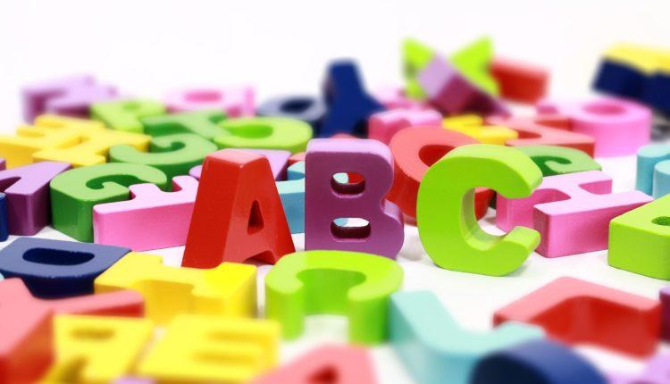 Palavras com as letras do alfabeto
