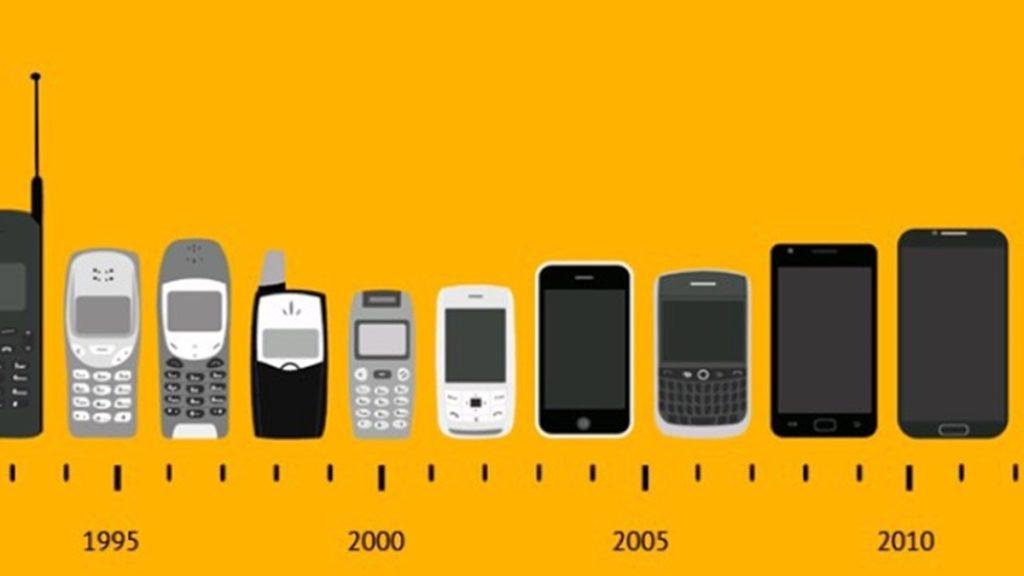 evolução do telefone celular nos anos 2000