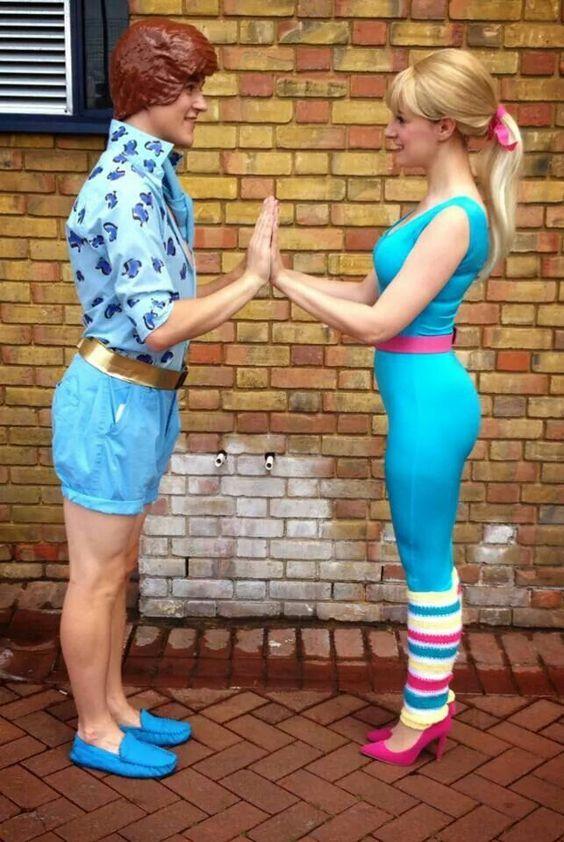 Fantasia de carnaval da Barbie e do Ken