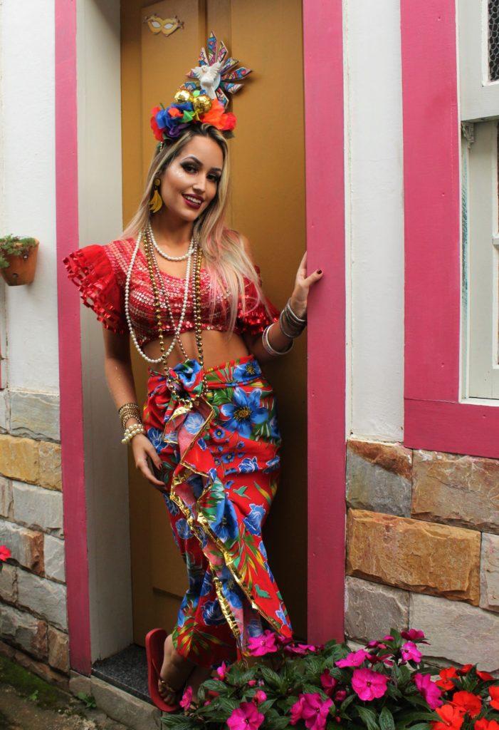 fantasia de carnaval de Carmen Miranda