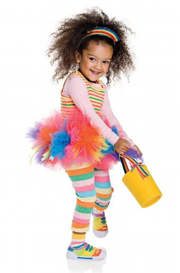 Fantasia de carnaval de arco-íris