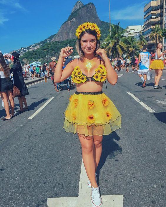 fantasia de carnaval de girassol