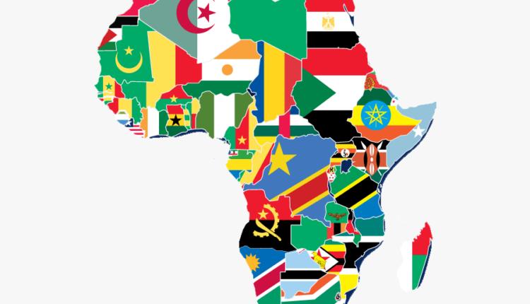 Fim do Império português - Mapa da África