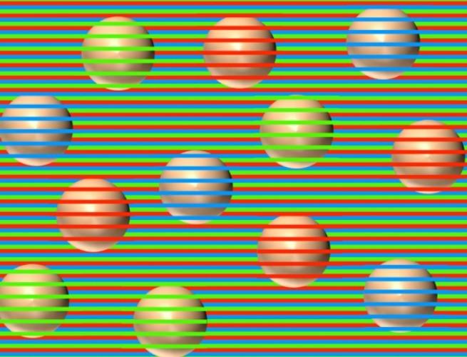 Bolas de cores diferentes