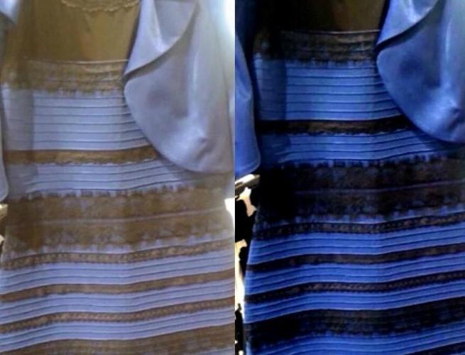Vestido de duas cores