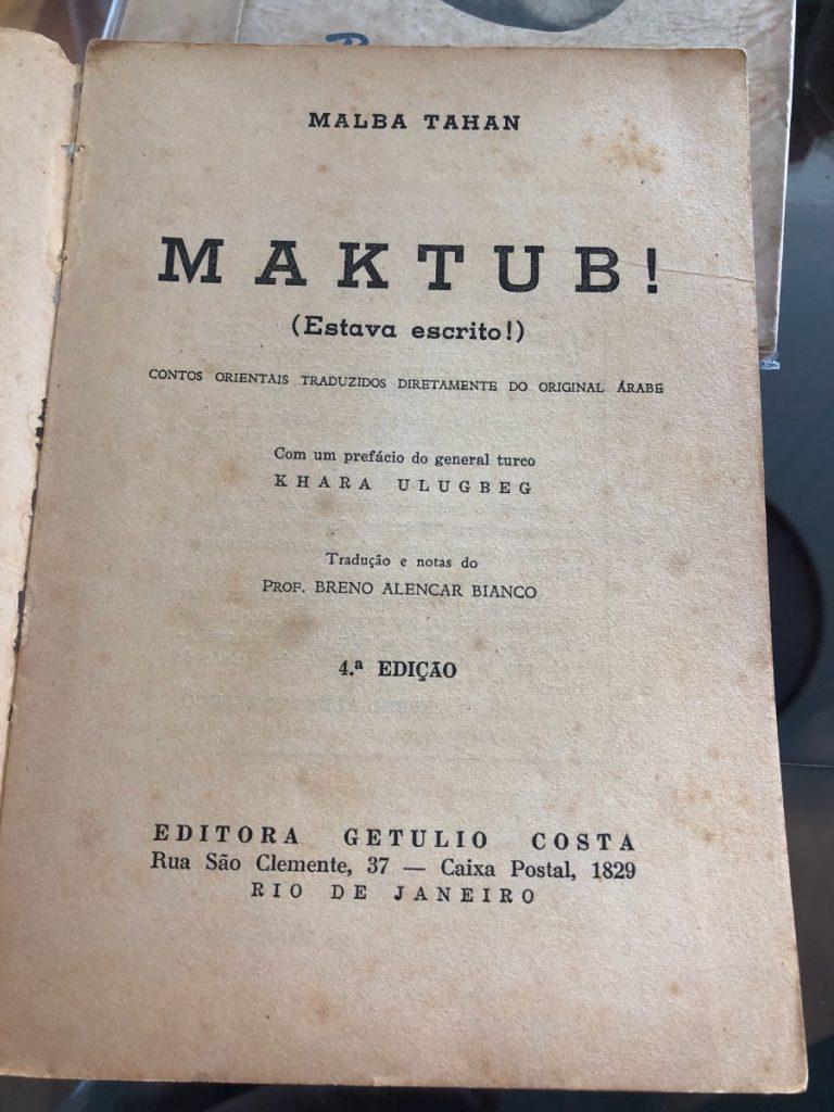 Livro Maktub, de Malba Tahan
