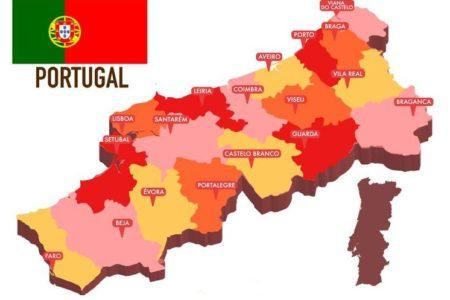 Mapa De Portugal Politico Portugal E Espanha Cidades E Turistico