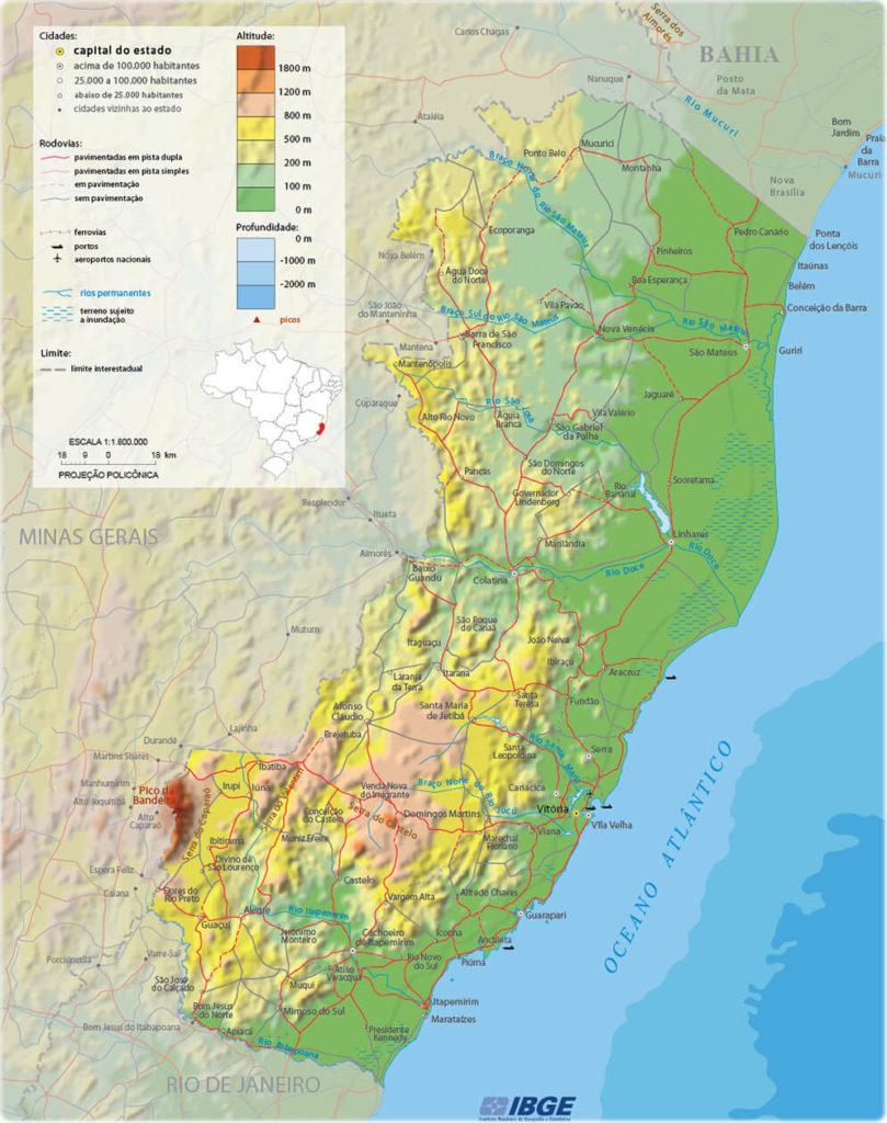 Mapa do Espírito Santo