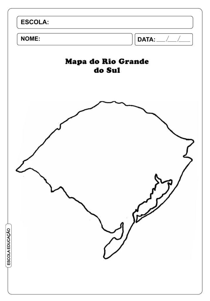 Mapa do Rio Grande do Sul para Imprimir e Colorir