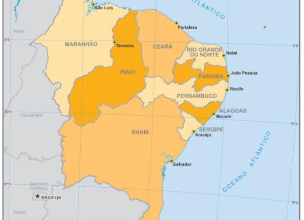 Mapa do nordeste