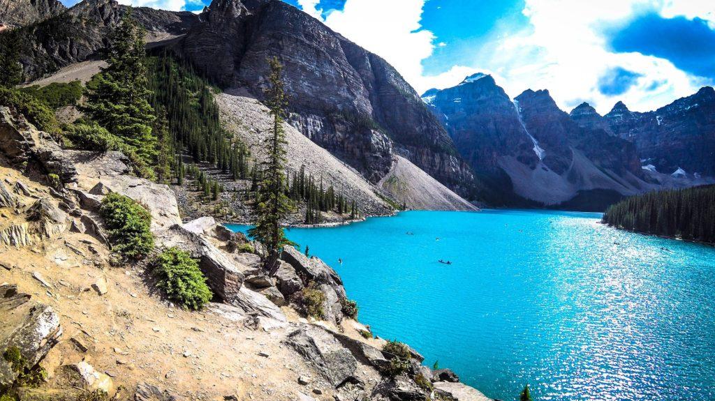 Lago Moraine e Vale Dos Dez Picos, Canadá