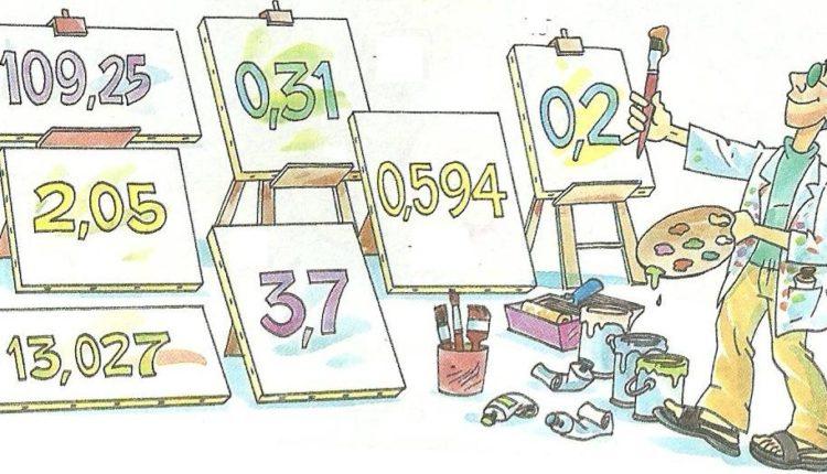Multiplicação com números decimais, números com vírgula