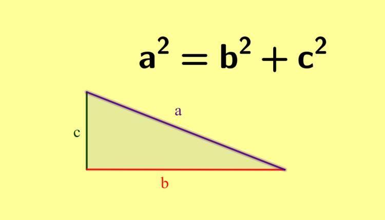 história e fórmula do teorema de Pitágoras