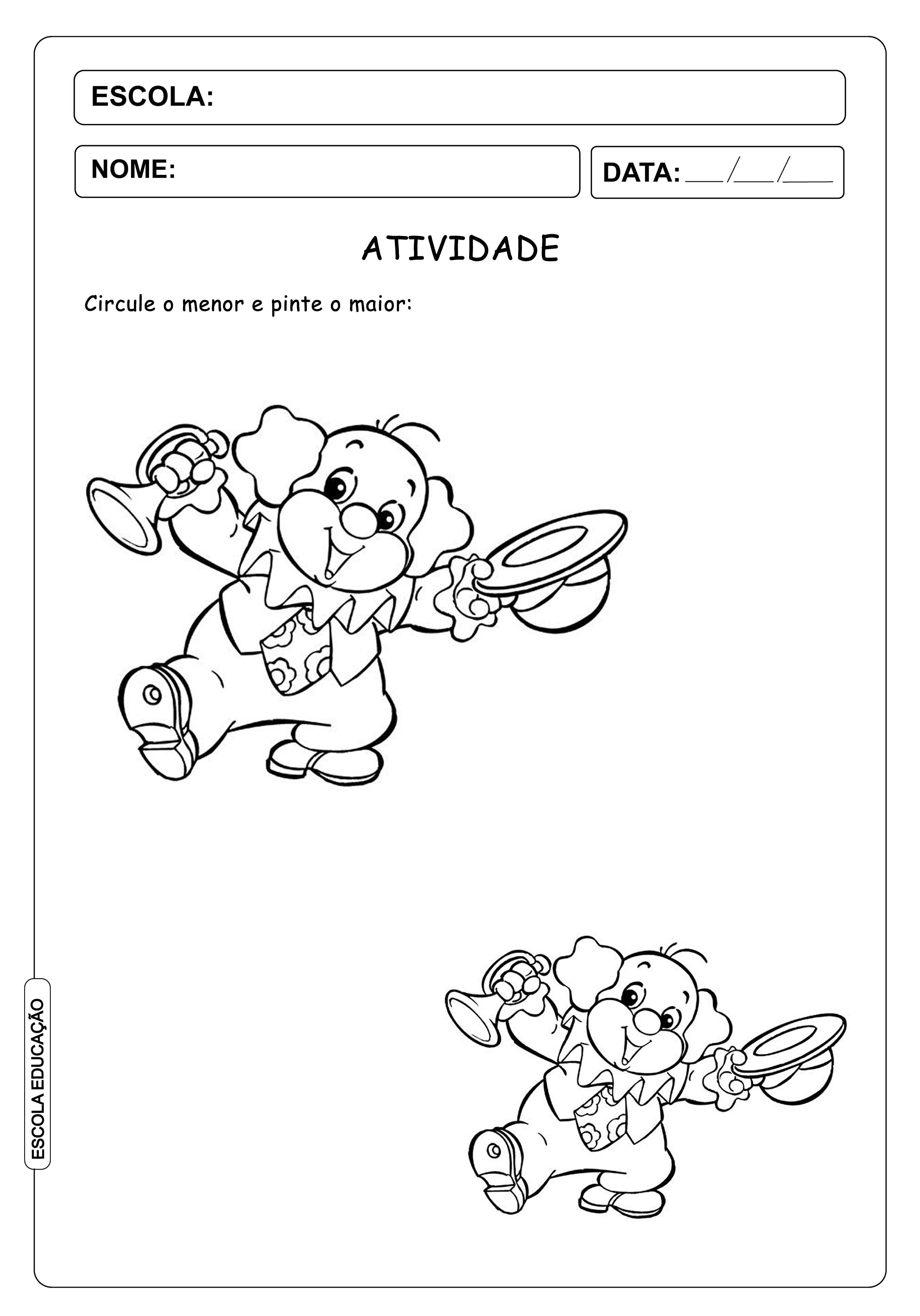 Atividade de Carnaval para imprimir – Educação Infantil