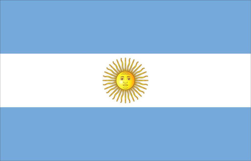 Cores da bandeira da Argentina