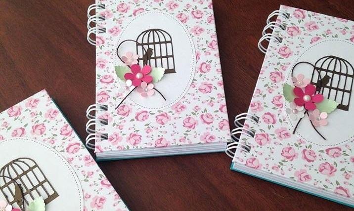 Lembrancinha dia das mulheres: Caderninho