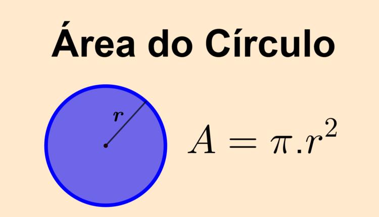 área de um círculo