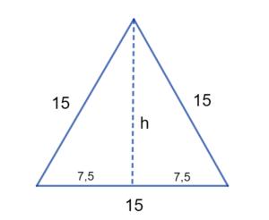 Teorema de Pitágoras- altura no triângulo equilátero