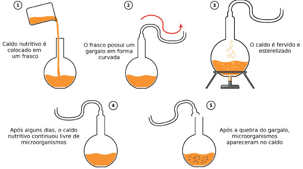 Biogênese - Experimento de Pasteur