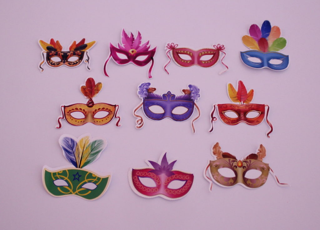 Máscaras decoradas