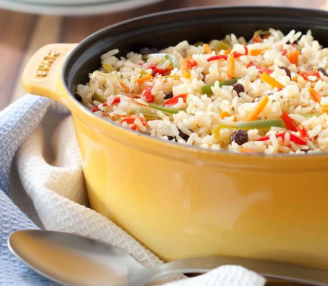 Ideias de almoço para páscoa - arroz à grega