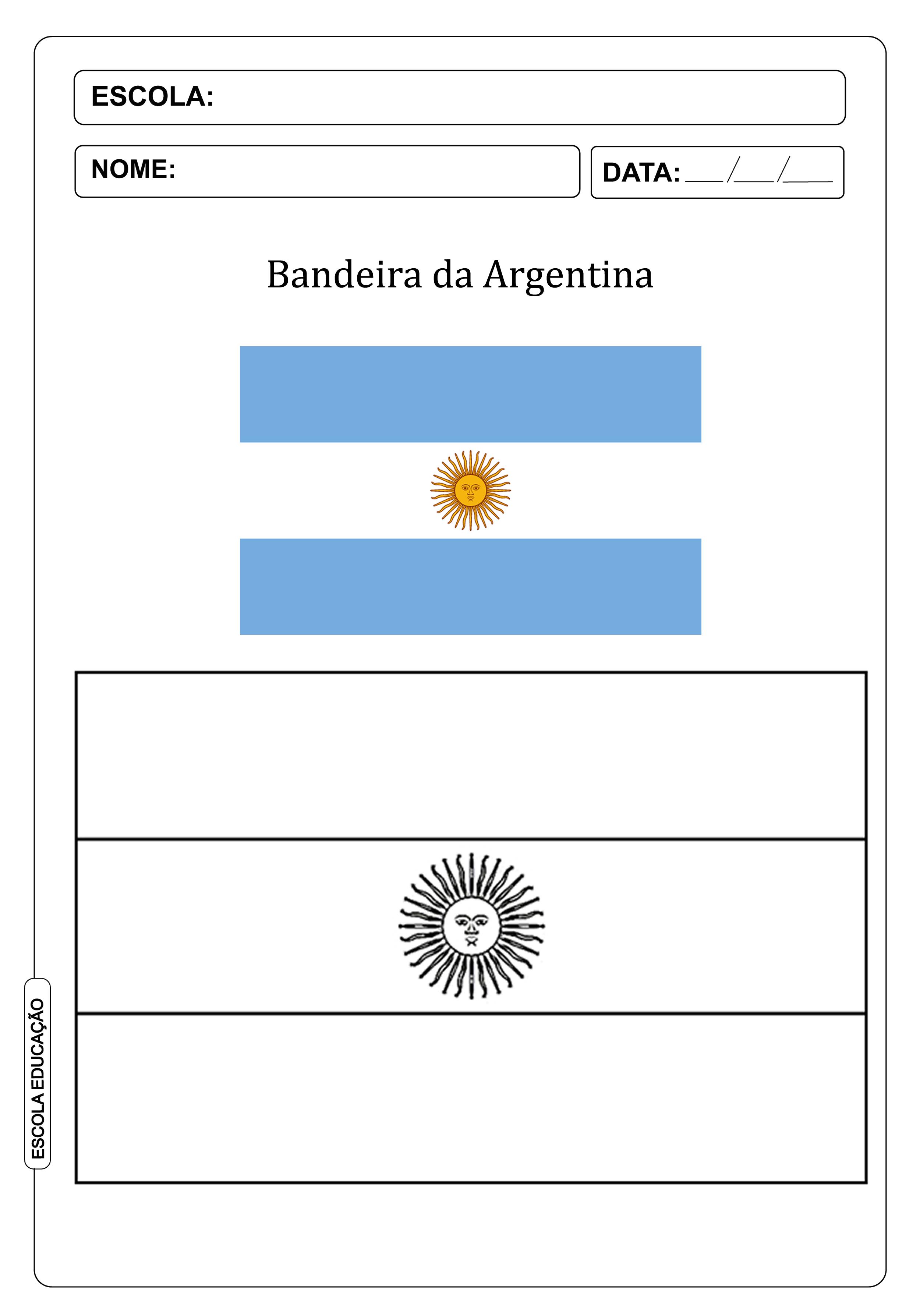 Bandeira Da Argentina Significado Sol De Maio Para Colorir Imagem