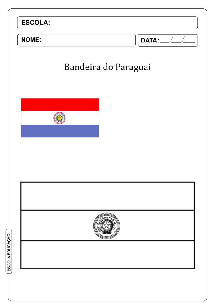 Bandeira do Paraguai para colorir
