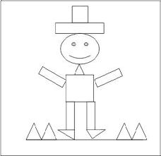 Boneco com formas geométricas