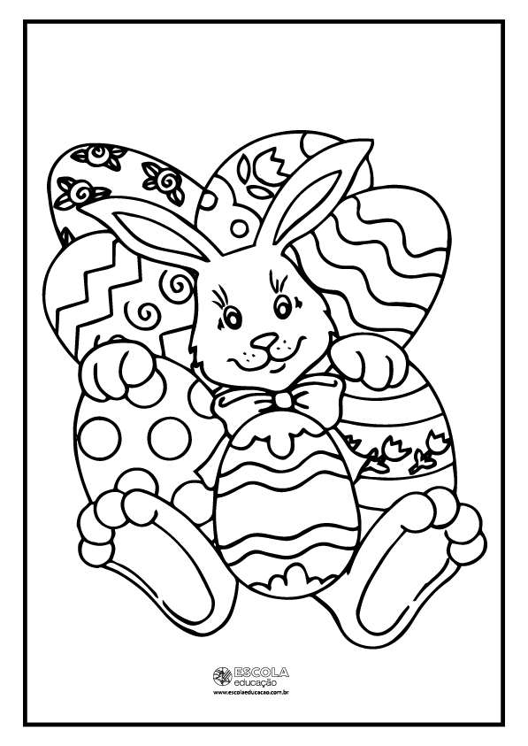 Coelho da Páscoa para colorir
