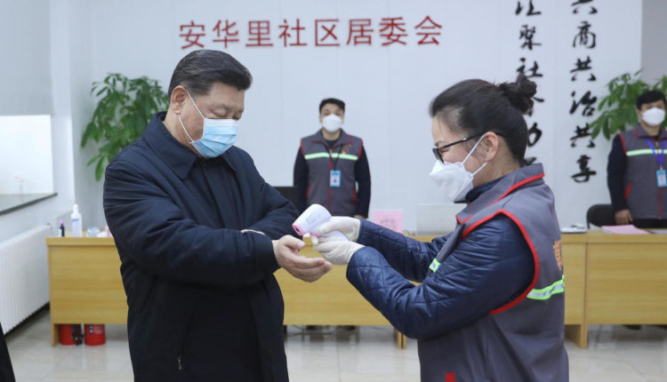Coronavírus - Presidente chinês Xi Jinping se protege com máscara na China.