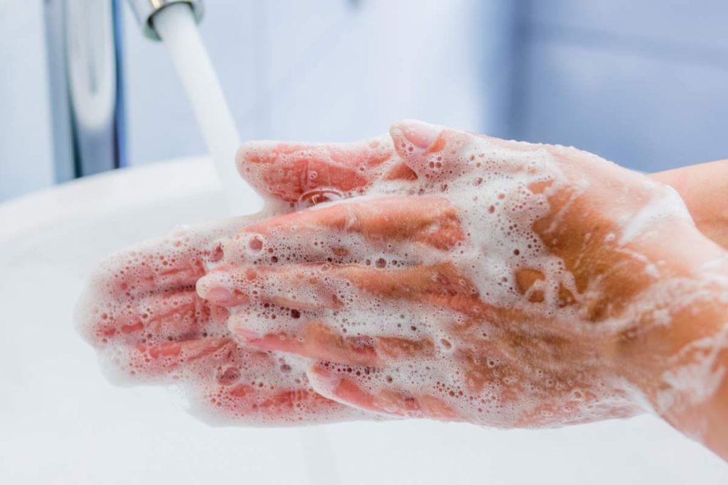 Vírus - Profilaxia - Lavar bem as mãos