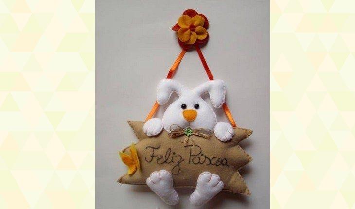 Ideias de decoração de páscoa - coelho de parede