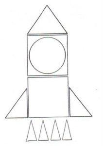 Foguete com formas geométricas