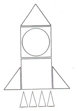 foguete-formas geometricas