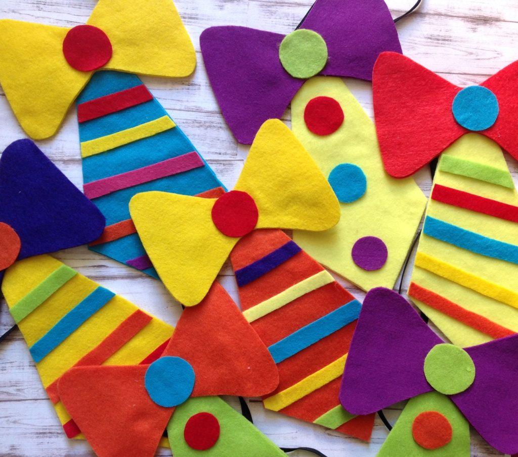 Dia do circo: Gravata de palhaço