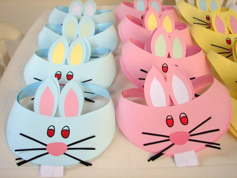 Ideias de lembrancinha de páscoa - chapéu de coelho