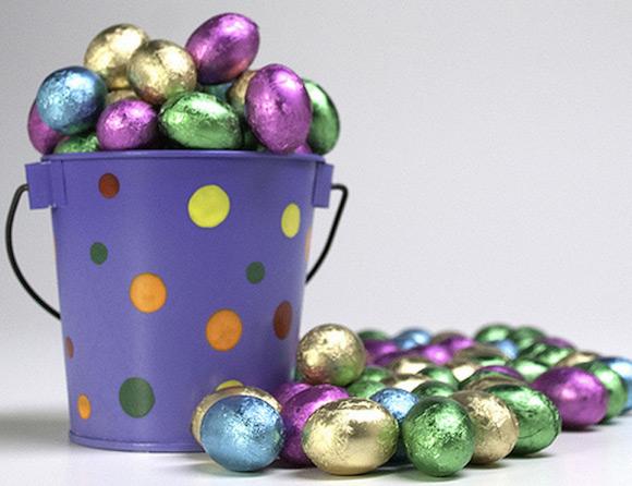 Ideias de lembrancinha de páscoa - balde de chocolate