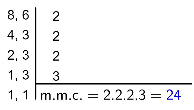 mmc na adição de frações