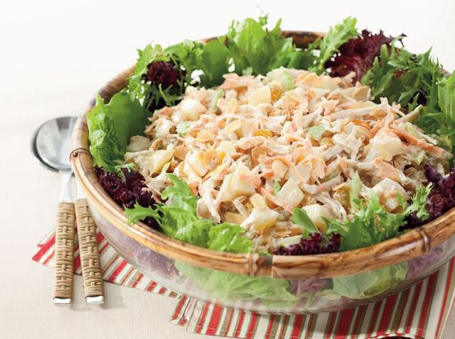 Ideias de almoço para a páscoa - Salpicão de frango