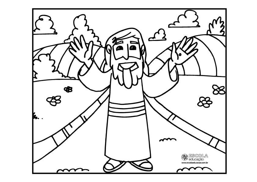Símbolos da Páscoa para colorir