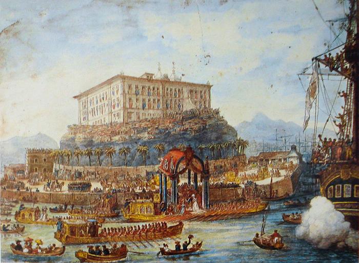 Desembarque de Leopoldina no Brasil, em 1817