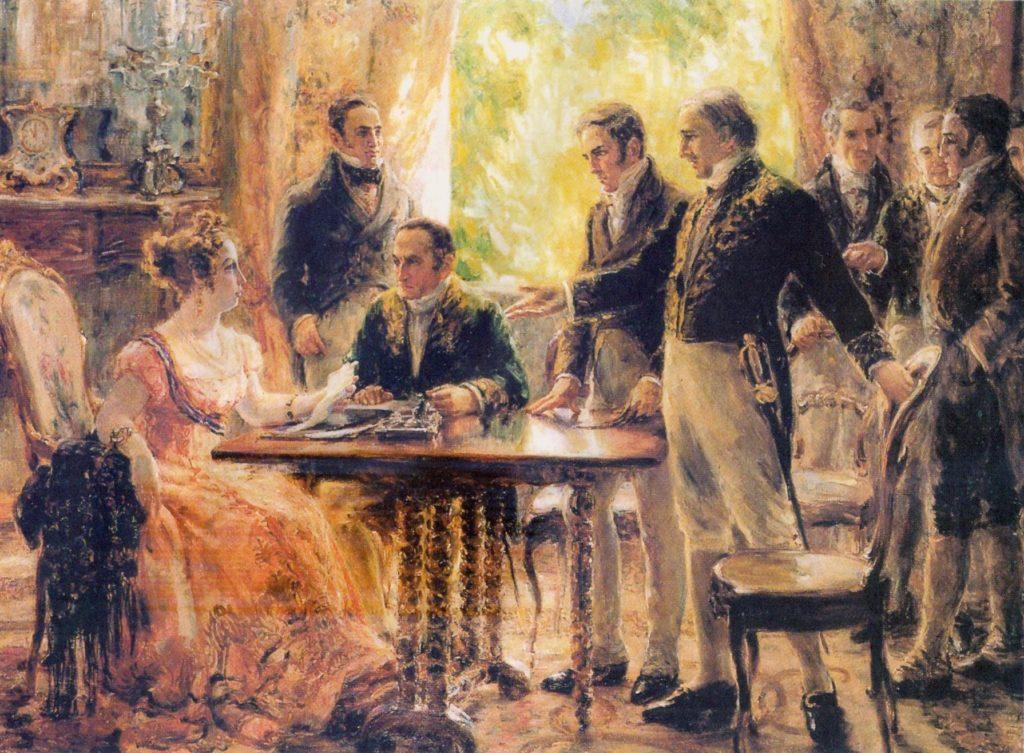 Imperatriz Leopoldina - Reunião que antecede a carta de independência