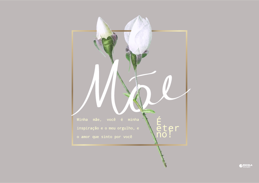 Cartão Dia das Mães para imprimir