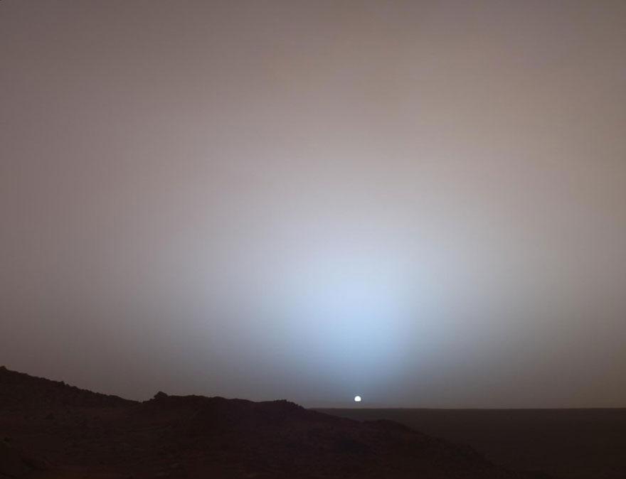 Pôr do sol em Marte
