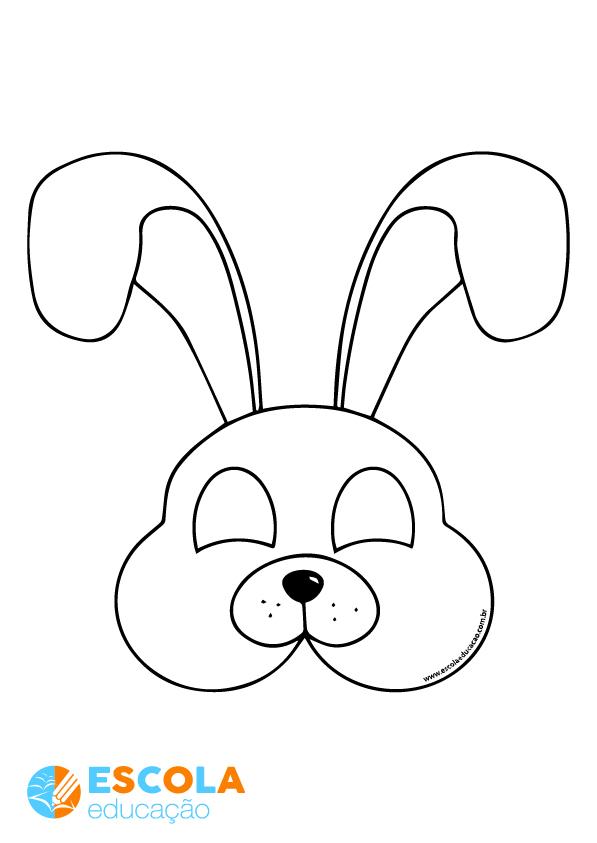 Molde coelho da Páscoa