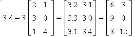 multiplicação de matriz por número