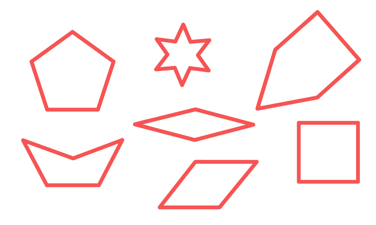 polígonos simples