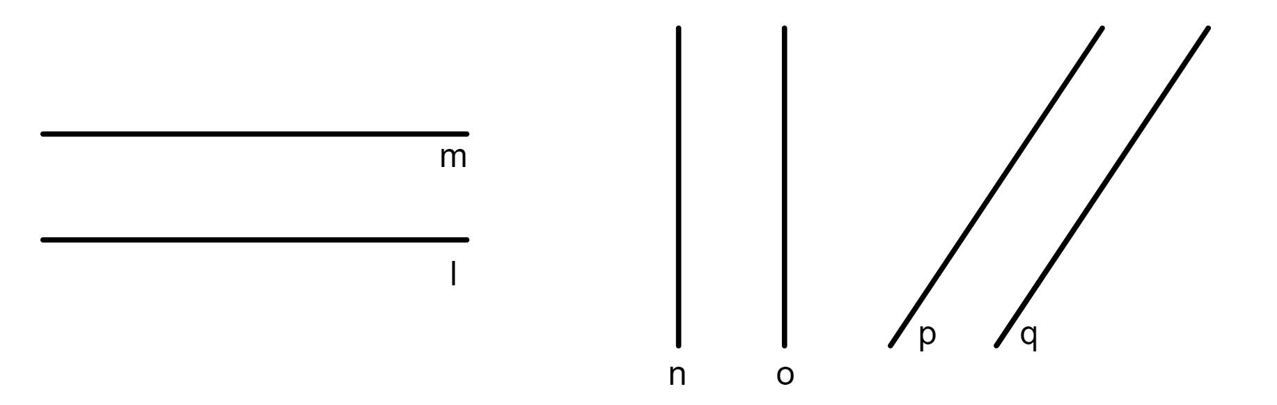 retas paralelas