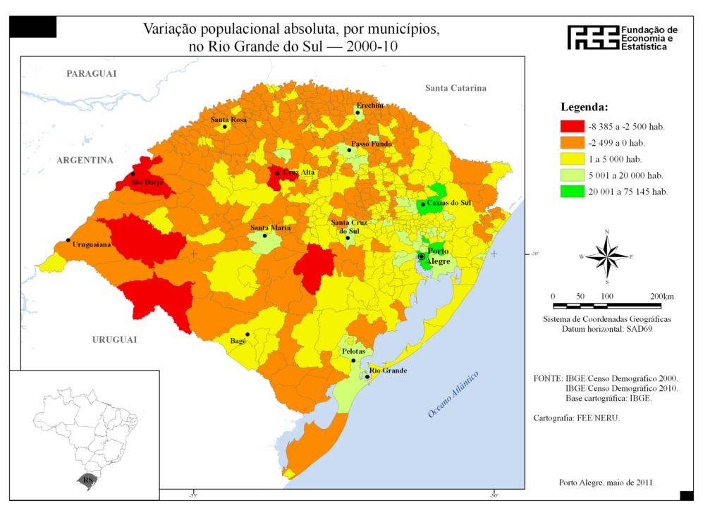 Tipos de mapas - Mapa demográfico