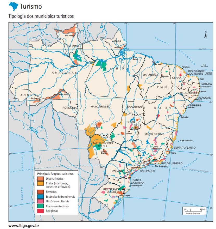 Tipos de mapas - Mapa Econômico